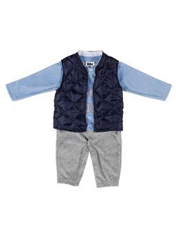 Macacao-Manga-Longa-Para-Bebe-Menino---Cinza-azul-P