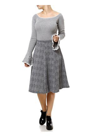 Blusa-de-Tricot-Feminina-Cinza-branco