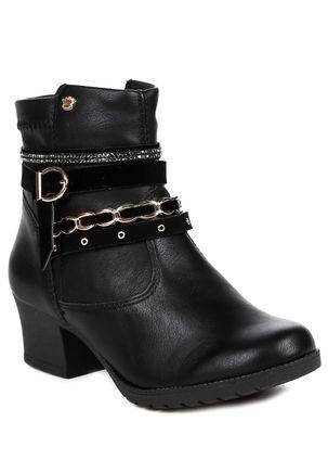 Bota-Ankle-Boot-Infantil-Para-Menina---Preto