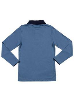 Polo-Manga-Longa-Juvenil-Para-Menino---Azul