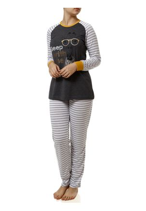 Pijama-Longo-Feminino-Cinza-branco