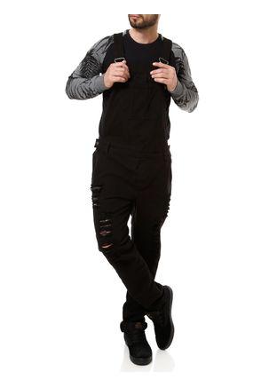 Macacao-Jeans-Masculino-Preto-P