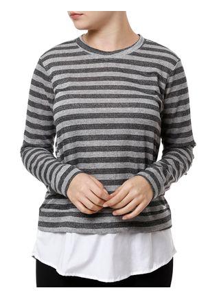 Blusa-Manga-Longa-com-Sobreposicao-Feminina-Autentique-Cinza