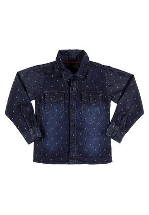 Camisa-Jeans-Manga-Longa-Infantil-Para-Menino---Azul