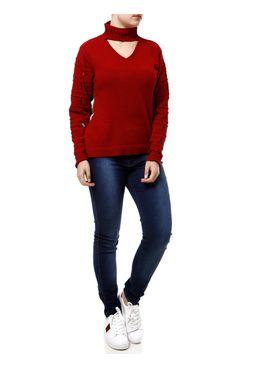 Blusa-de-Tricot-Feminina-Autentique-Vermelho