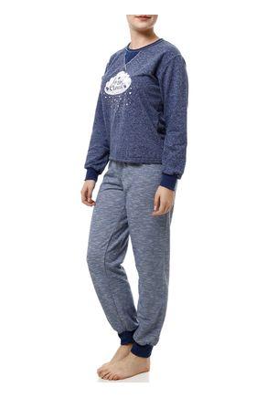 Pijama-Longo-Feminino-Azul-Marinho-P