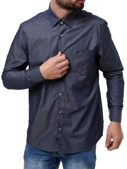 Camisa-Manga-Longa-Masculina-Eletron-Azul-Marinho-P