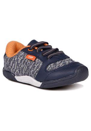 Tenis-Kidy-Infantil-Para-Bebe-Menino---Azul-Marinho-laranja-17