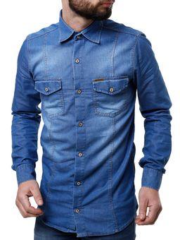 Camisa-Jeans-Manga-Longa-Masculina-Azul-Claro-P