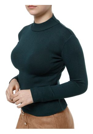 Blusa-de-Tricot-Feminina-Verde