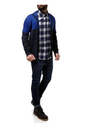 Camisa-Manga-Longa-Masculina-Azul-branco-P