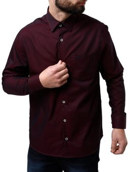 Camisa-Manga-Longa-Masculina-Bordo-P