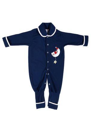 Macacao-Infantil-Para-Bebe-Menina---Azul-Marinho-P