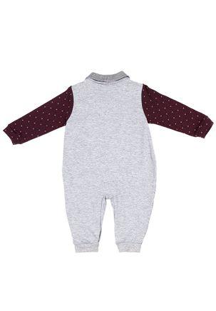 Macacao-Infantil-Para-Bebe-Menino---Bordo-cinza-P