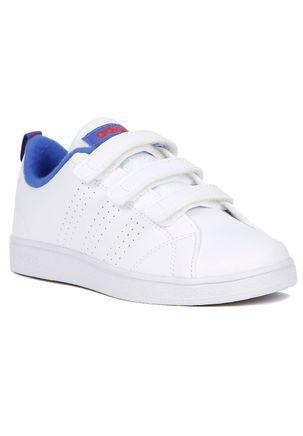 Tenis-Casual-Adidas-Advantage-Clean-Infantil-Para-Menino---Branco-azul-28