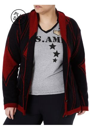 Casaco-Plus-Size-Feminino-Autentique-Bordo-preto-G2