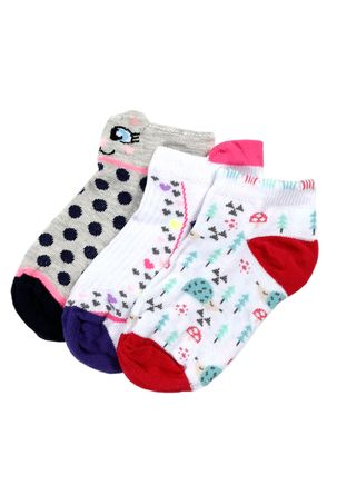 Kit-com-03-Meias-Infantil-Para-Menina---Cinza-branco-rosa-25-28