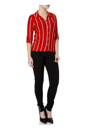 Camisa-Manga-3-4-Feminina-Autentique-Vermelho-P