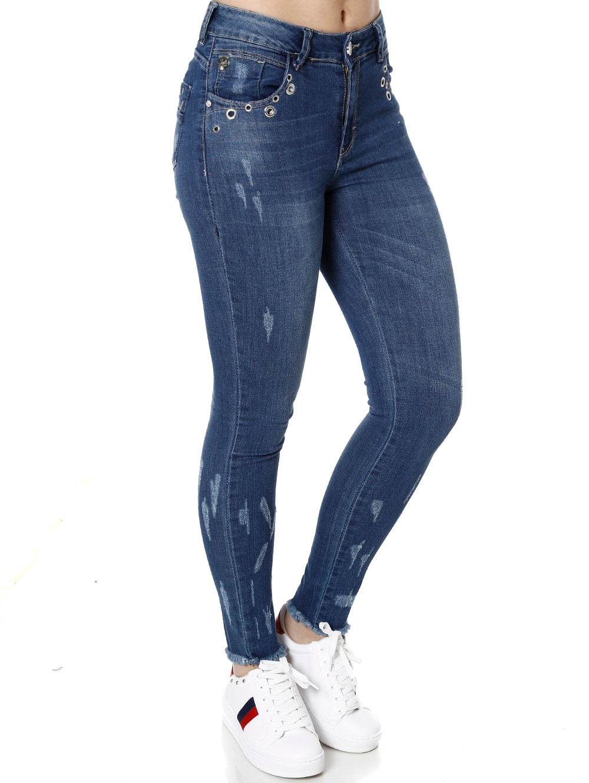 08cb8709b Calça Jeans Skinny Feminina Zune Azul - Lojas Pompeia