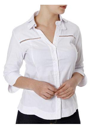 Camisa-Manga-3-4-Feminina-Branco-M
