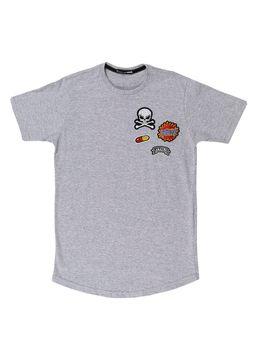 Camiseta-Manga-Curta-Local-Juvenil-para-Menino---Cinza-Claro