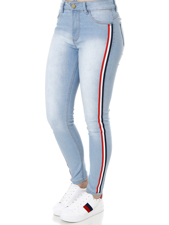 1f6771a7b Calça Jeans Feminina Sawary Azul - Lojas Pompeia