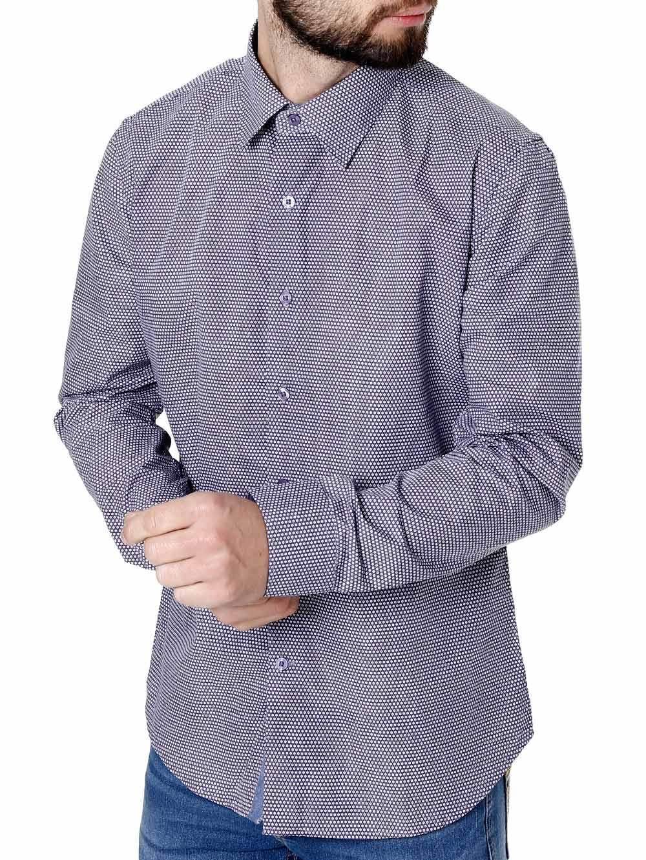 0b4e2af72d Camisa Manga Longa Masculina Azul - Lojas Pompeia