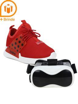 Tenis-Ladybug-Vr-Mania-Infantil-Para-Menina---Branco-vermelho-28