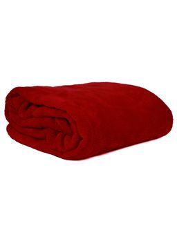 Manta-Casal-Corttex-Microfibra-Vermelho