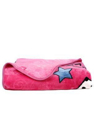 Cobertor-Solteiro-Jolitex-Raschel-Disney-Rosa-Pink