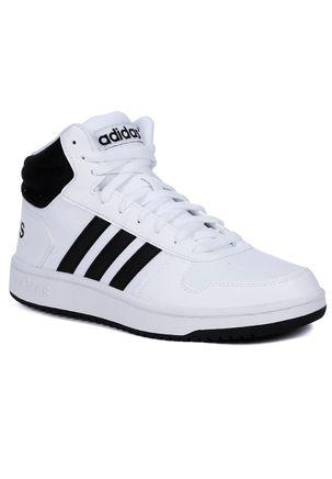 Tenis-Cano-Alto-Masculino-Adidas-Branco-preto