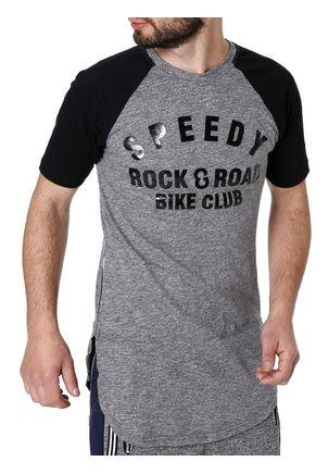 Camiseta-Alongada-Manga-Curta-Masculina-Cinza