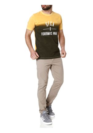 Camiseta-Manga-Curta-Masculina-Verde-amarelo-P