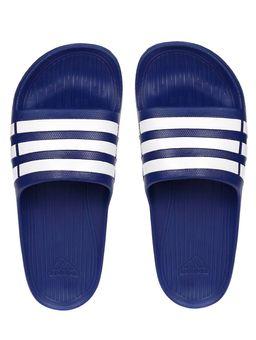 Chinelo-Masculino-Adidas-Duramo-Slide-Azul-branco-40-41