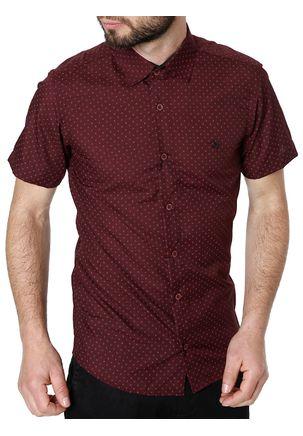 Camisa-Manga-Curta-Masculina-Vinho-P
