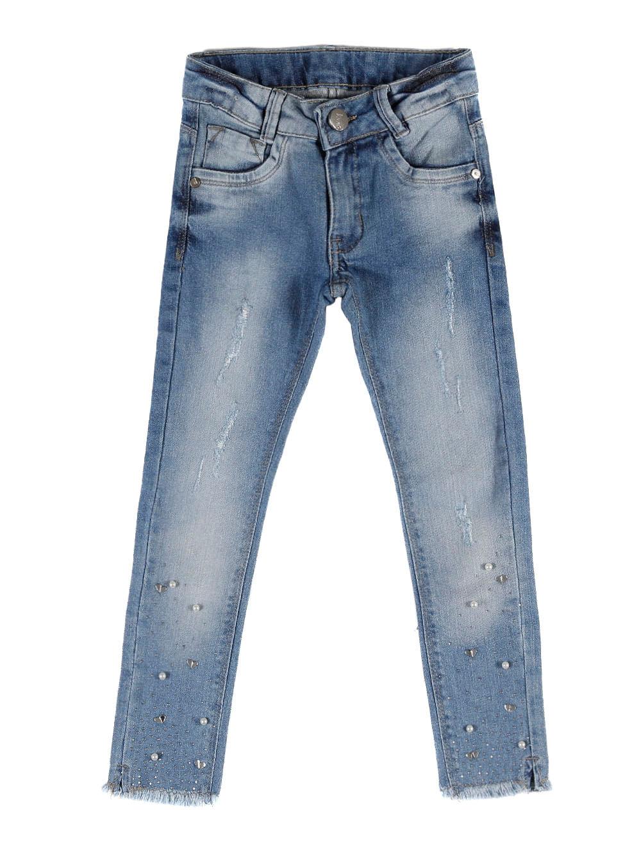 c17dbb235 Calça Jeans Skinny Infantil para Menina - Azul - Lojas Pompeia