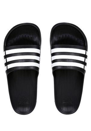 Chinelo-Masculino-Adidas-Duramo-Slide-Preto-branco-40-41