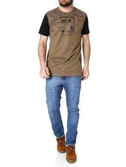 Camiseta-Manga-Curta-Masculina-Marrom