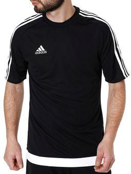 Camiseta-de-Futebol-Masculina-Adidas-Preto-branco-M