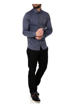 Camisa-Slim-Manga-Longa-Masculina-Azul-Marinho-P