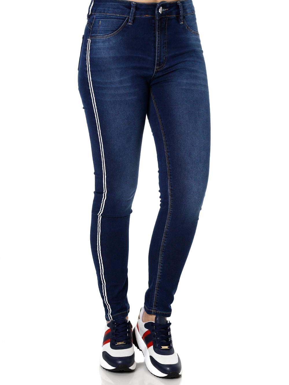 bba3667a7 Calça Jeans Feminina Sawary Azul - Lojas Pompeia