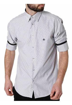 Camisa-Manga-3-4-Masculina-Cinza-P