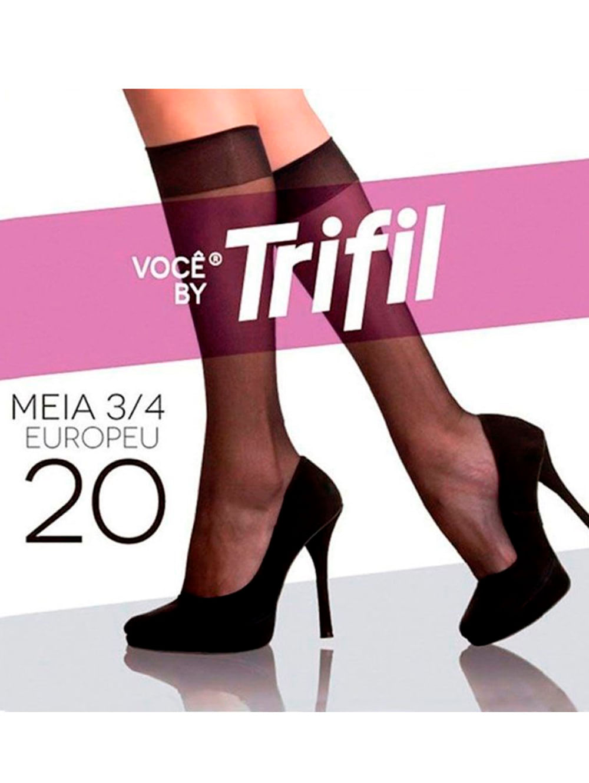 7a622a7f7 Meia 3 4 Feminina Trifil Preto - Meia Feminina Trifil Preto