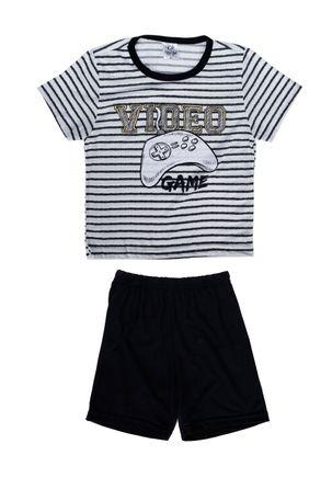 Pijama-Curto-Infanto-Juvenil-para-Menino---Preto