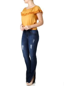Calca-Jeans-Flare-Feminina-Amuage-Azul-38