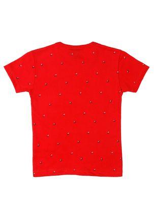 Camiseta-Manga-Curta-Infantil-Para-Menino---Vermelho