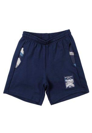 Bermuda-Moletom-Infantil-Para-Menino---Azul-Marinho