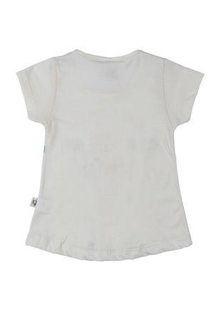 Blusa-Manga-Curta-Infantil-Para-Menina---Bege-1