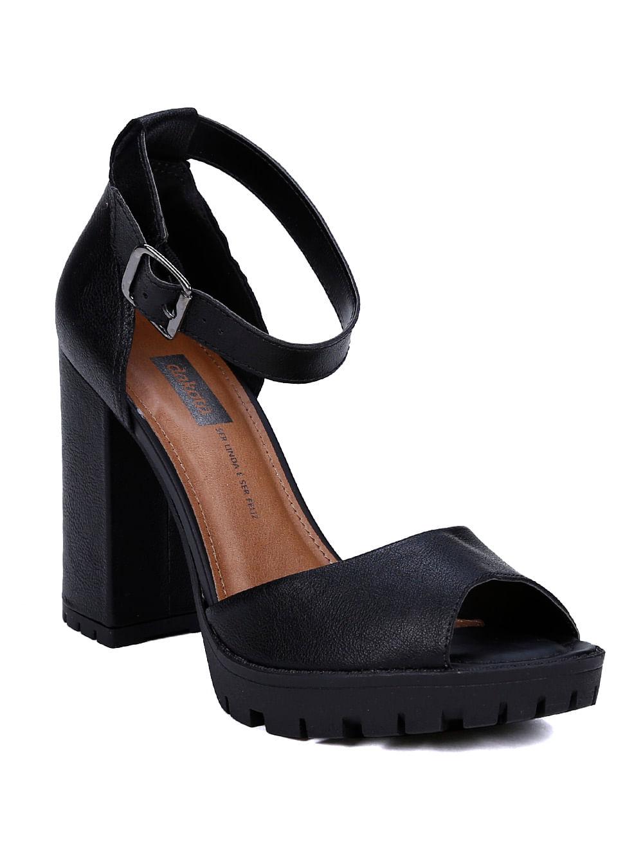 c55428244 Sandália de Salto Feminina Dakota Preto - Lojas Pompeia