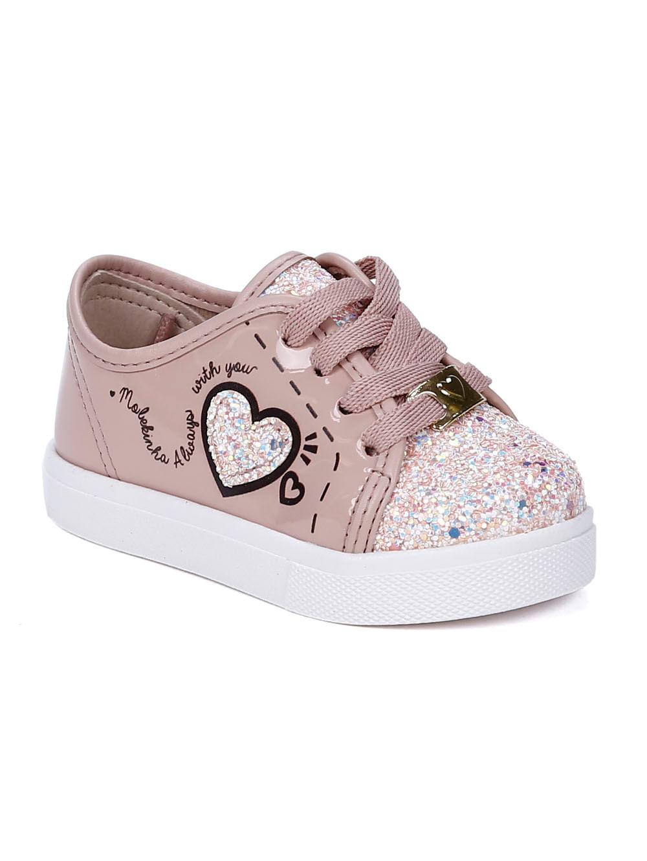 9e18589197 Tênis Molekinha Infantil Para Bebê Menina - Rosa/branco - Lojas Pompeia
